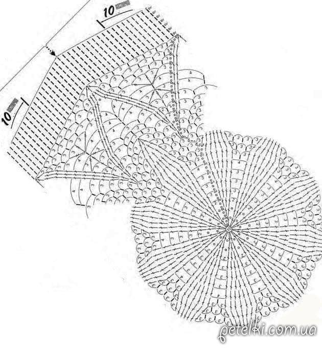 Вязание крючком шляпа с полями схема фото 431