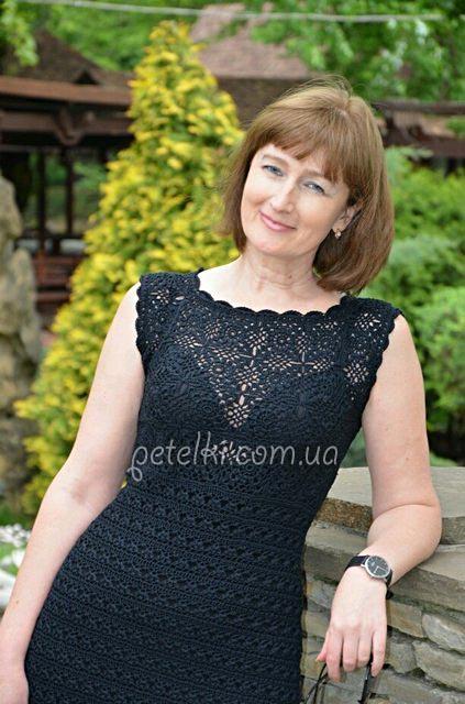 黑色魅力----外网钩针连衣裙 - 柳芯飘雪 - 柳芯飘雪的博客