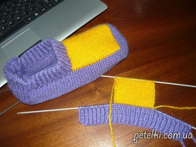Вязание спицами башмаки и тапочки