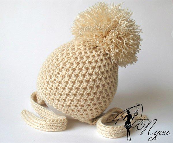 Детские шапочки образцы вязания 68