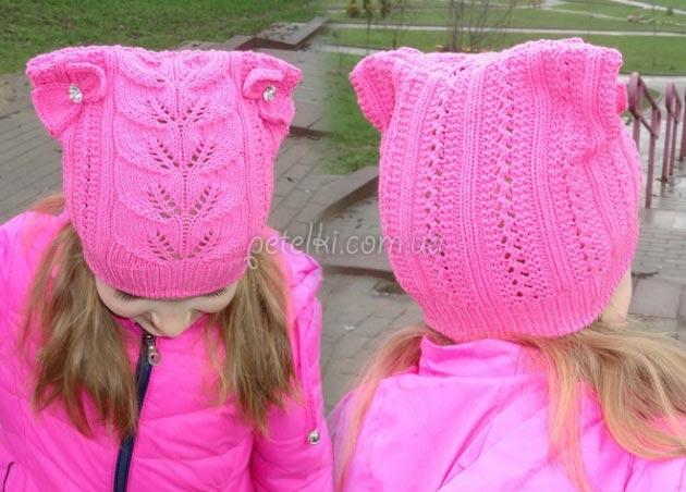 Ажурная шапочка с ушками. Схема