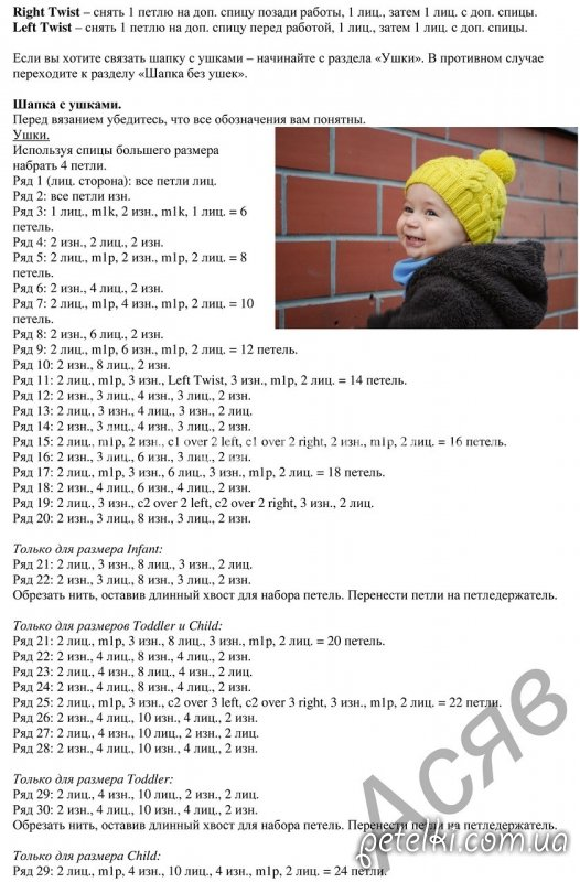 Как рассчитать вязание шапки на ребенка