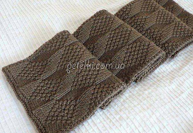 Вязание мужского шарфа схема