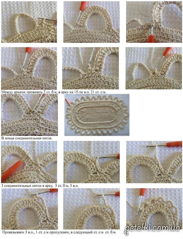 Мастер класс вязание овала крючком