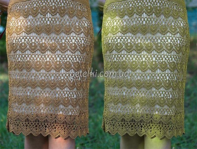 Роскошный узор для платья или юбки. Схема