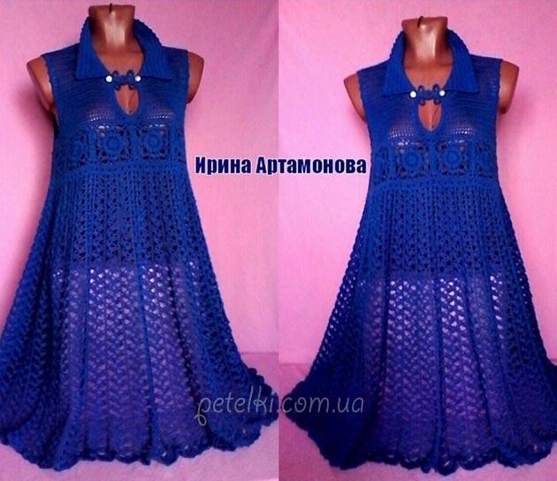 Роскошное платье Ирины <u>крючком</u> Артамоновой. Схемы