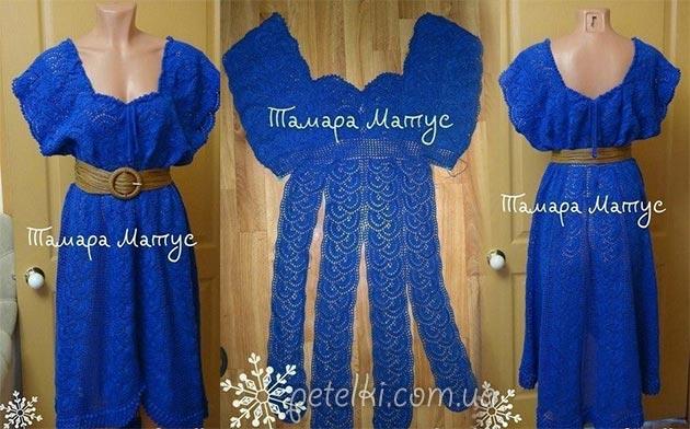 Платье из ленточного кружева Тамары Матус. Схема, описание