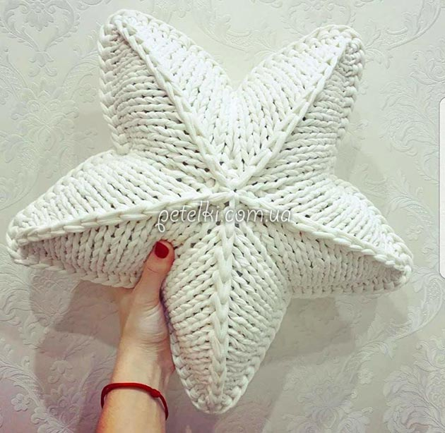 Вязание подушки звезда