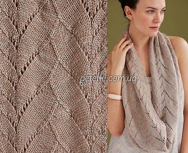 Женские шарфы спицами описанием схемами фото 109
