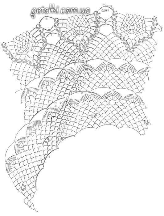 красивейшая ажурная скатерть крючком схема вязания