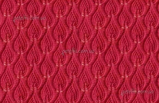 ажурные узоры для вязания спицами шарфов
