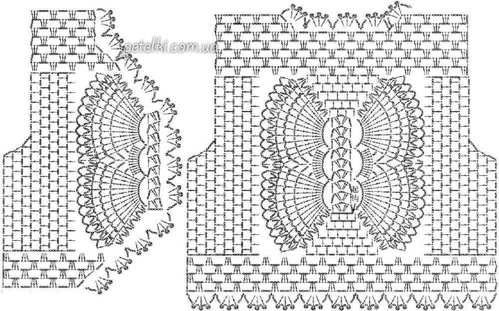 болеро бабочка крючком описание схема выкройка
