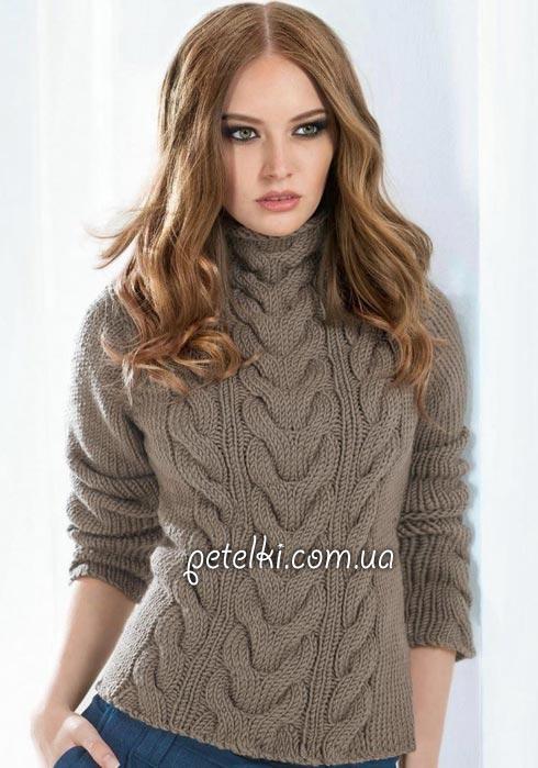 теплые свитера и пуловеры со схемами страница 6