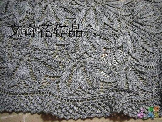 красивый ажурный узор спицами схема вязания
