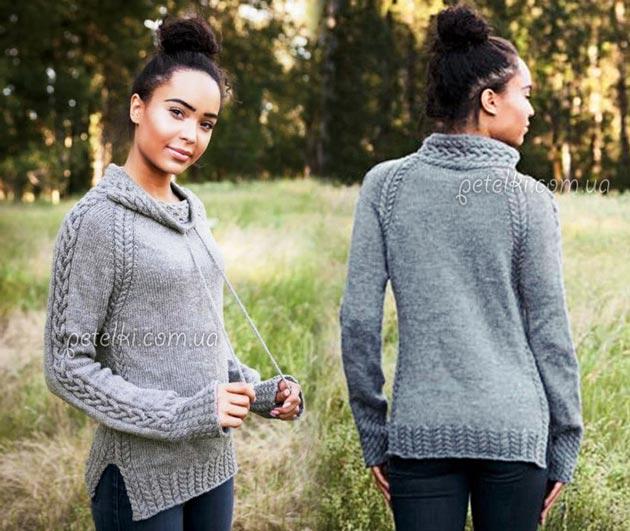 теплые свитера и пуловеры со схемами