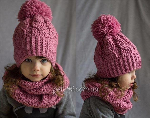 детская вязанная шапка схема и описание