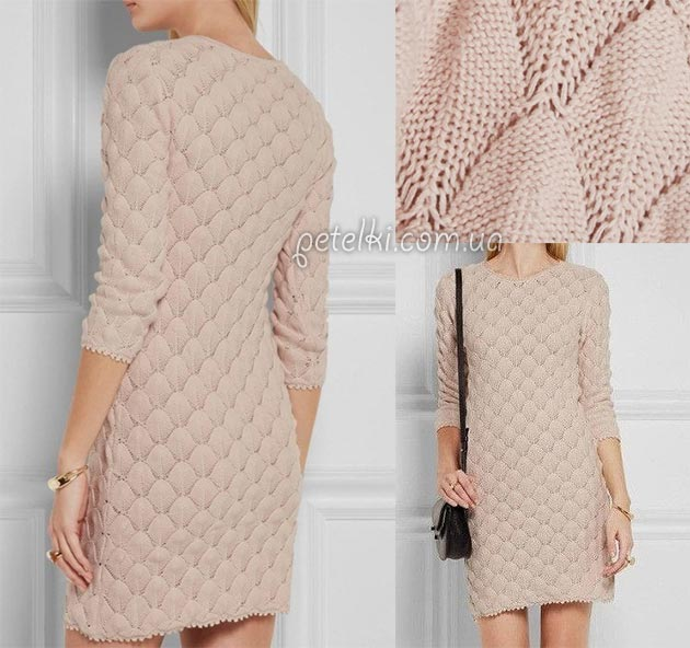 Красивейшее платье спицами. Схема узора
