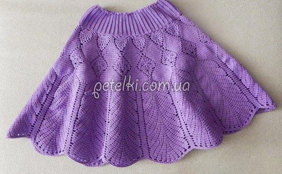 схемы вязания юбочек для девочек